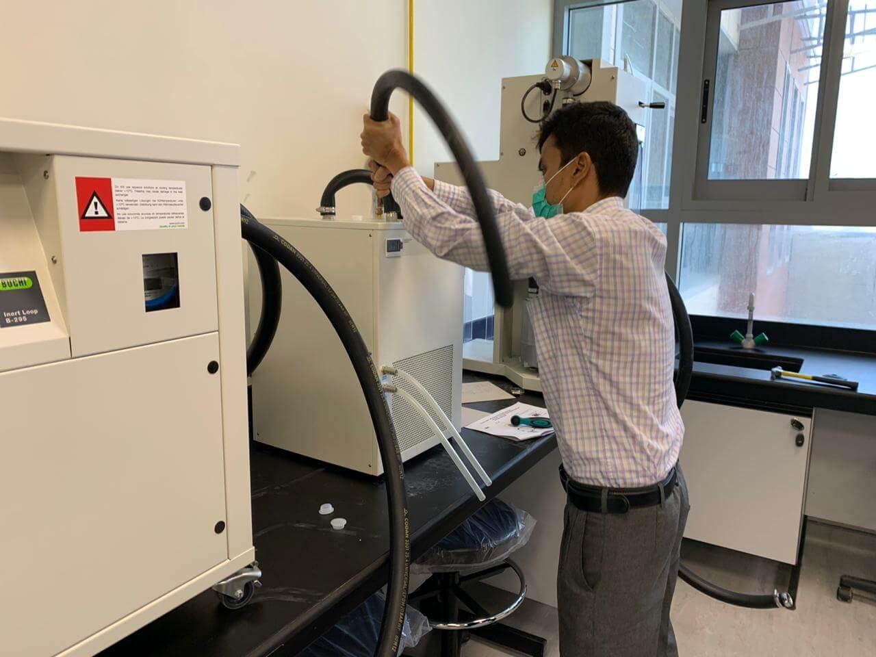 Minispray dryer system at Fatema College of Pharmacy, Abudhabi& Al ain (2 Nos.)