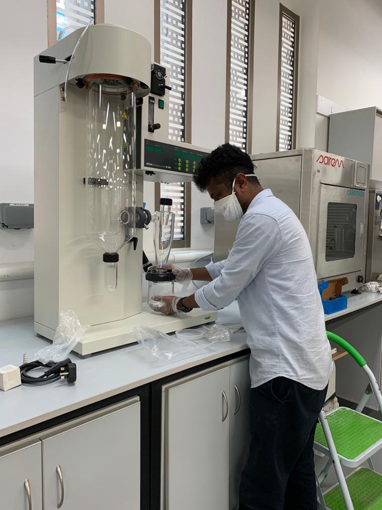 Minispray dryer system at College of Food Science, UAE University Al ain